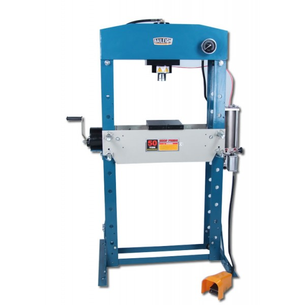 H-Frame Hydraulic Press | 50 Ton Shop Press | Baileigh Industrial
