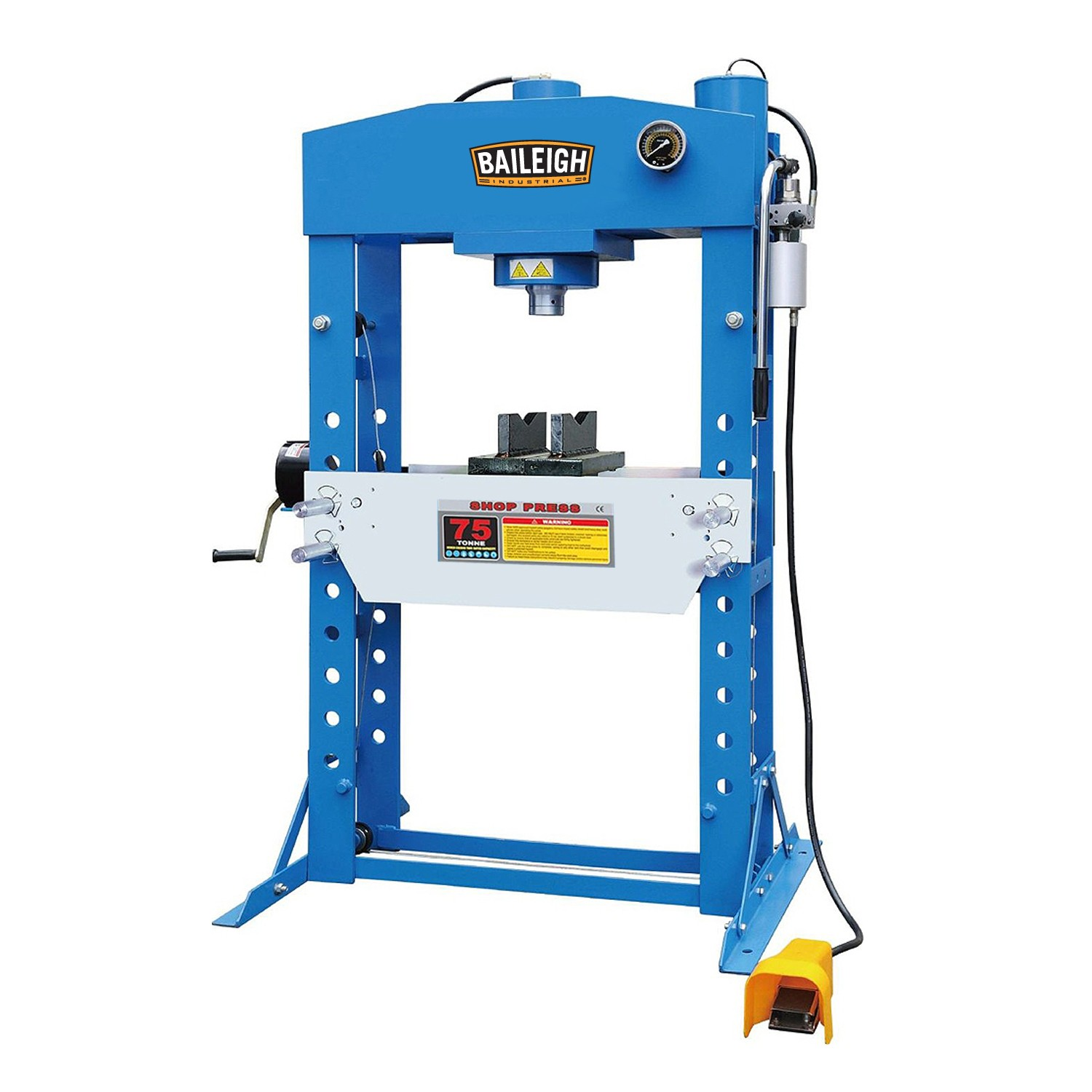 hydraulic press presses metalworking baileigh industrial hydraulic press hsp 75a 10