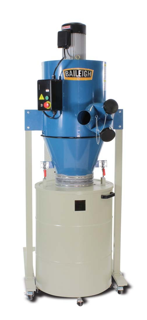 3 HP Cyclone Dust Collectors Dust Collection System