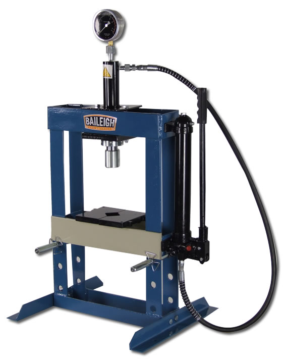 Hydraulic shop press h frame press baileigh industrial Hydraulic bench press